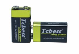 TcBest 9V 6F22 batterij / accu
