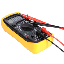 Digitale Multimeter met Backlight Inclusief 9V Duracell batterij
