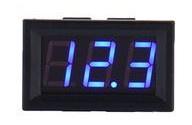 Inbouw voltmeter 0-300V DC Blauw