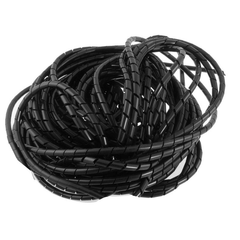 10 Meter Spiraalband Zwart 6mm