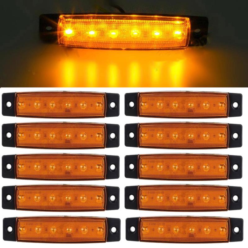 10 stuks LED contourverlichting 12v / 24v Oranje