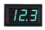 Inbouw voltmeter 0-300V DC Groen