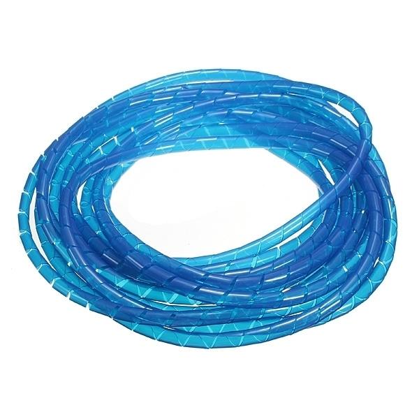 10 Meter Spiraalband Blauw 6mm