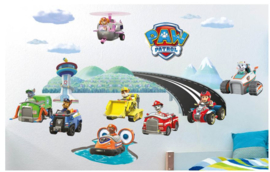 Paw Patrol Muurstickers Vehicles - Walltastic