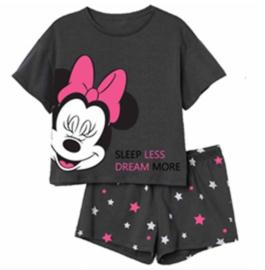 Minnie Mouse Shortama / Zomer Set - Grijs