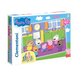 Peppa Pig Vloerpuzzel - 40 stukjes - Clementoni
