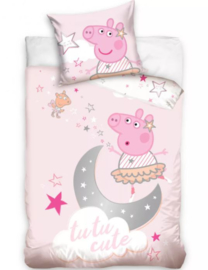 Peppa Pig Baby Dekbedovertrek 100 x 135 cm - Tutu