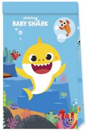 Baby Shark Uitdeelzakjes -  4 stuks