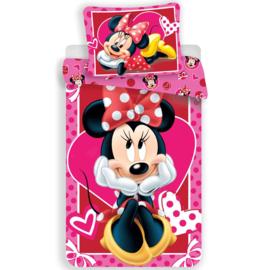 Minnie Mouse Dekbedovertrek 140 X 200 cm - Hearts