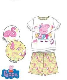 Peppa Pig Shortama - Geel/Wit