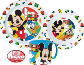 Mickey Mouse Kinderservies met Mok - Magnetron