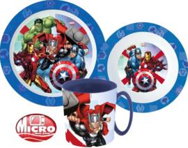 Avengers Kinderservies met Mok Blauw - Magnetron