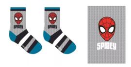 Spiderman Sokken Grijs - 1 paar