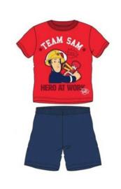 Brandweerman Sam Shortama - Blauwe Short