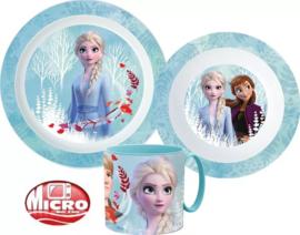 Disney Frozen Kinderservies Blauw met Mok - Magnetron