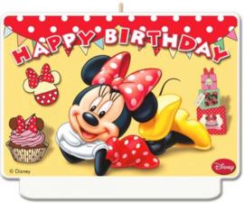 Minnie Mouse Verjaardagstaart Kaars