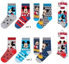 Mickey Mouse Sokken - 3 paar - Maat 23 t/m 34