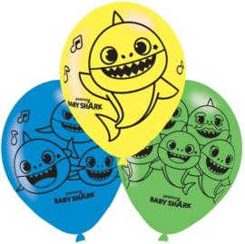 Baby Shark Ballonnen - 6 stuks