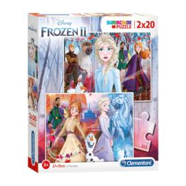 Disney Frozen2 2 in 1 Puzzel - 2 x 20 stukjes - Clementoni