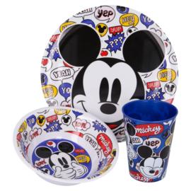 Mickey Mouse Kinderservies met Beker - Melamine
