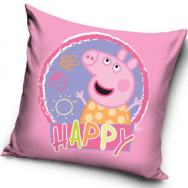 Peppa Pig Kussen - Happy