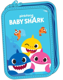 Baby Shark Gevulde Etui - 2 laags