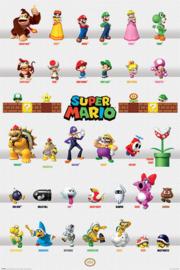 Super Mario Bros Maxi Poster - Character Parade
