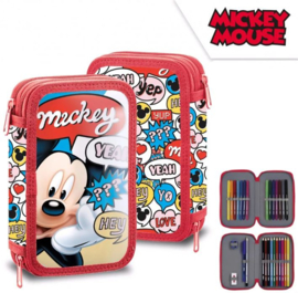 Mickey Mouse Gevulde Etui - 2 laags