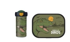 Dino Lunchset: Broodtrommel met Schoolbeker - Mepal