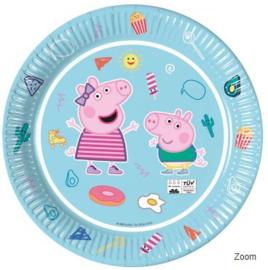 8 Peppa Pig Feestbordjes - Eco Friendly