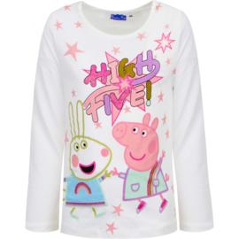 Peppa Pig Longsleeve Shirt Wit - High Five