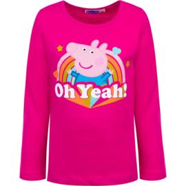 Peppa Pig Longsleeve Shirt Fuchsia - Oh Yeah