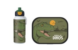 Dino Lunchset: Broodtrommel met Pop-up Beker - Mepal