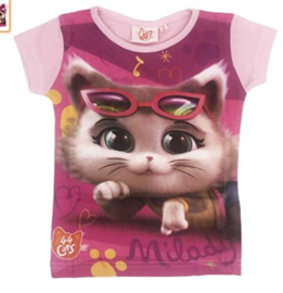 44 Cats T-shirt - Roze