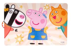 Peppa Pig Placemat - Zoë Zebra en Candy Kat