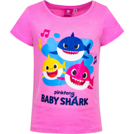 Baby Shark T-shirt - Roze