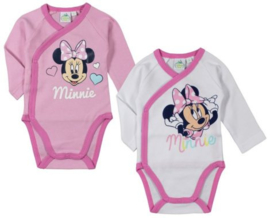 Minnie Mouse Rompertje Lange Mouw - Maat 50 t/m 62 - Disney Baby