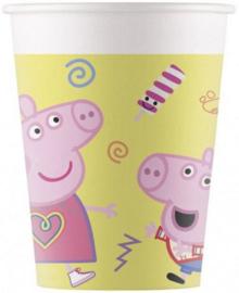 8 Peppa Pig Feestbekertjes