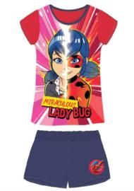Miraculous Ladybug Shortama / Zomer Set - Rood/Blauw