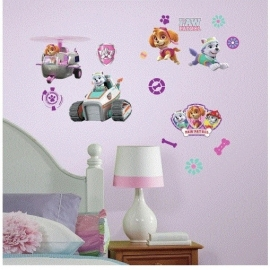 Paw Patrol Skye en Everest Muursticker - RoomMates