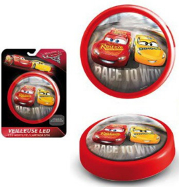 Disney Cars Led Push Nachtlampje - Rood