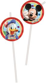 Mickey Mouse Rietjes - 6 stuks