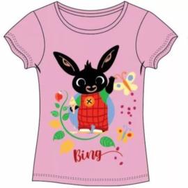 Bing Konijn T-shirt Vlinder - Roze