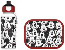 Mickey Mouse Lunchset: Broodtrommel met Pop-up Beker - Mepal