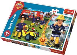 Brandweerman Sam Puzzel - 24 Maxi stukjes - Trefl