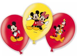 Mickey Mouse Ballonnen Gekleurd - 6 stuks