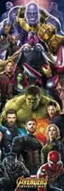 Avengers Infinity War Characters Deurposter