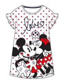 Minnie en Mickey Mouse Nachthemd - Wit