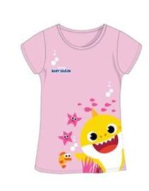 Baby Shark T-shirt - Licht Roze