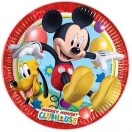 Mickey Mouse Feestbordjes / Gebaksbordjes - 8 stuks